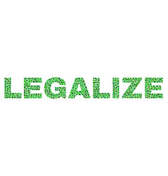 Legalize text in dot style vector