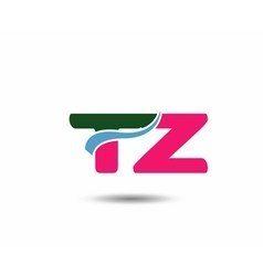 Letter t and z logo vector
