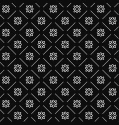 Line flower geometric seamless pattern 1201 vector