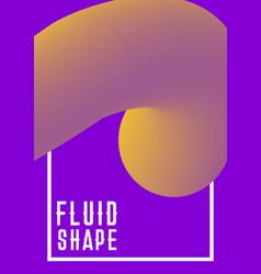 liquid fluid shape cover design modern vector image vector image