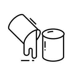 Liquid line icon concept sign outline vector