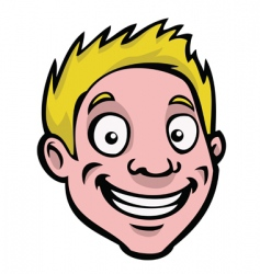 male cartoon face vector image
