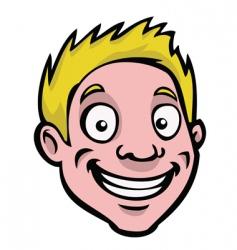 Male cartoon face vector