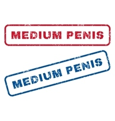 Medium Penis Rubber Stamps vector image