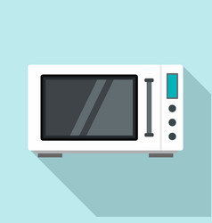 modern microwave icon flat style vector image