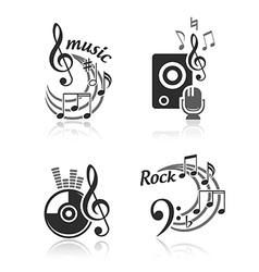 Music elements set vector image