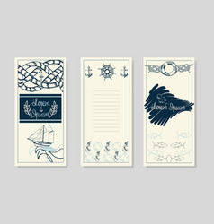 nautical booklet design summer sea shells banner vector image