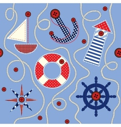 Nautical style pattern vector