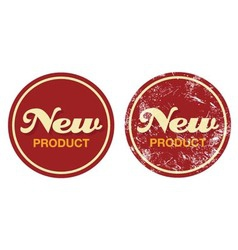 New product red retro badge - grunge style vector image