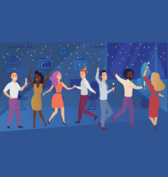 new year corporate party or birthday celebrating vector image