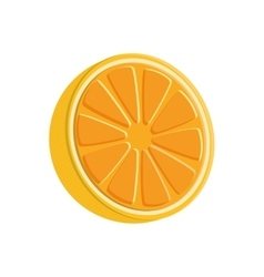 Orange fruit product healthy icon graphic vector