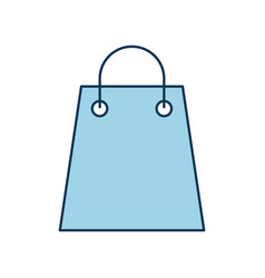 paper gift bag shopping commerce market vector image