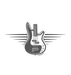 part guitar isolated on a white background vector image