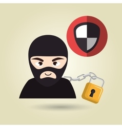 pc hacker safe design vector image