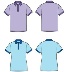 Polo t shirt vector