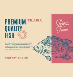 premium quality tilapia abstract fish vector image