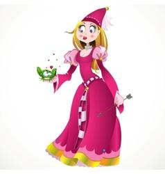 Princess in pink vector
