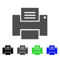Printer flat icon vector