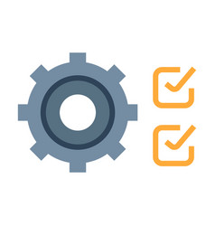 quality control flat vector image