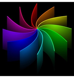 Rainbow swirl vector