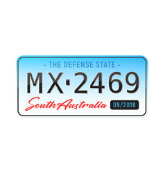 Realistic license plate vector