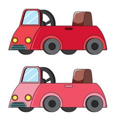 set of kid car vector image