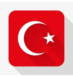 Simple flat icon Turkey flag vector