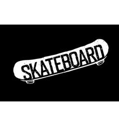 Skateboard vintage logotype vector