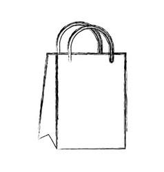 sketch draw gift bag cartoon vector image