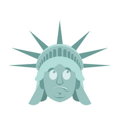 statue of liberty surprised emoji us landmark vector image