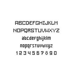 Stencil font vector