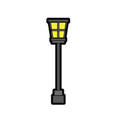 street lamp vintage icon image vector image