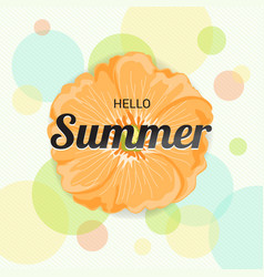 Summer flowers background or summer floral design vector