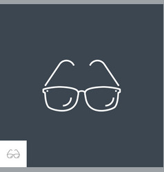 sunglasses related line icon vector image