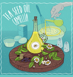 tea seed oil used for cooking vector image