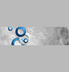 tech circles on abstract grunge corporate banner vector image