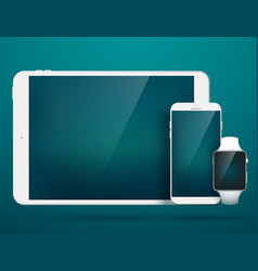 technology digital gadgets set vector image