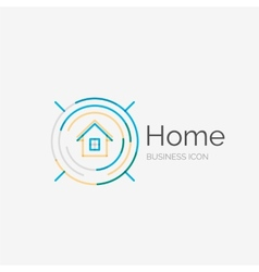 Thin line neat design logo home idea vector