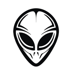 Tribal Alien Head vector image