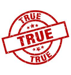 true round red grunge stamp vector image
