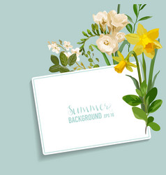 vintage spring floral card with a tag vector image