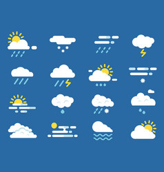 weather icon set meteo symbols pictures vector image