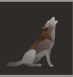 Wolf sings vector