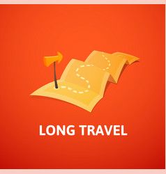 World tour concept logo long route in travel map vector