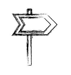 arrow road sign icon vector image vector image