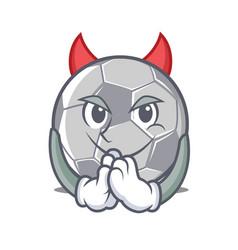 devil football character cartoon style vector image vector image