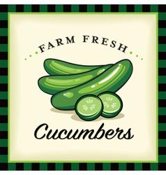 Farm Fresh Cucumbers vector image vector image