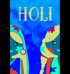 happy holi kids celeration indian traditional vector image