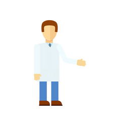 male doctor in flat design icon vector image