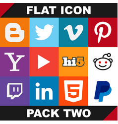 modern flat icon pack two image vector image vector image